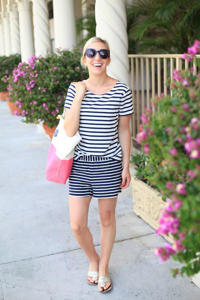 Lemon Stripes Shopping on Worth Ave