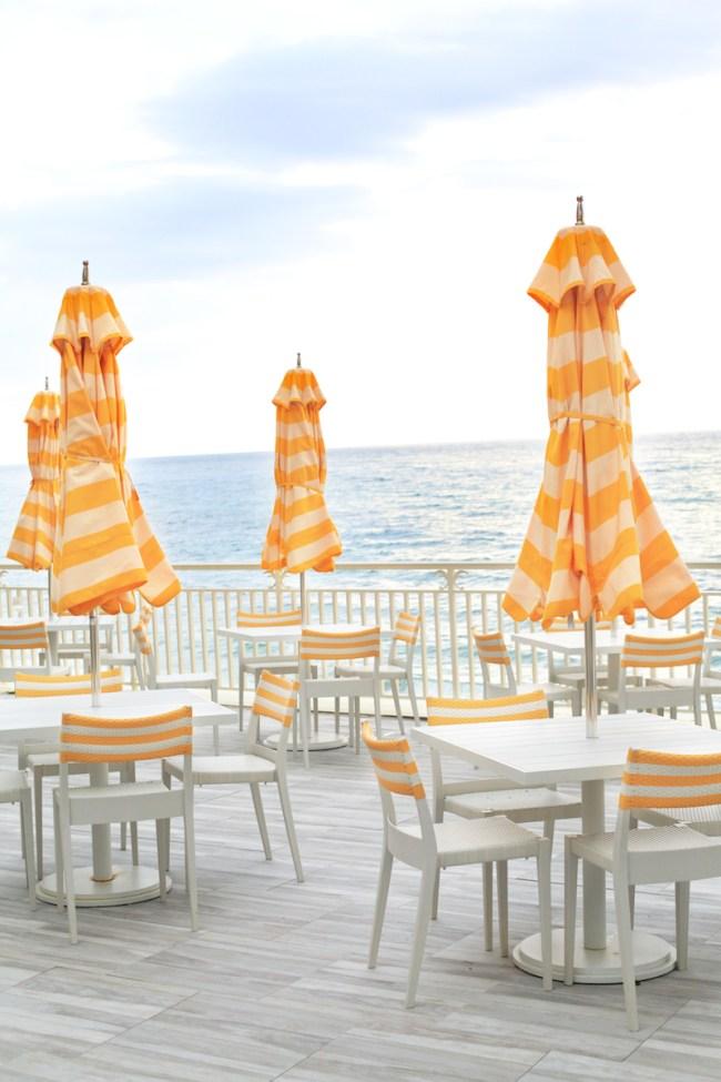 Yellow Striped Umbrellas