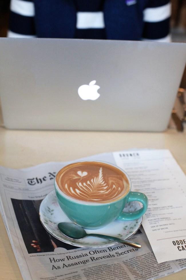 Latte at Oddfellows