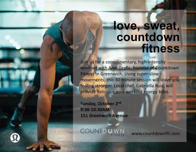 Countdown Fitness x Lululemon