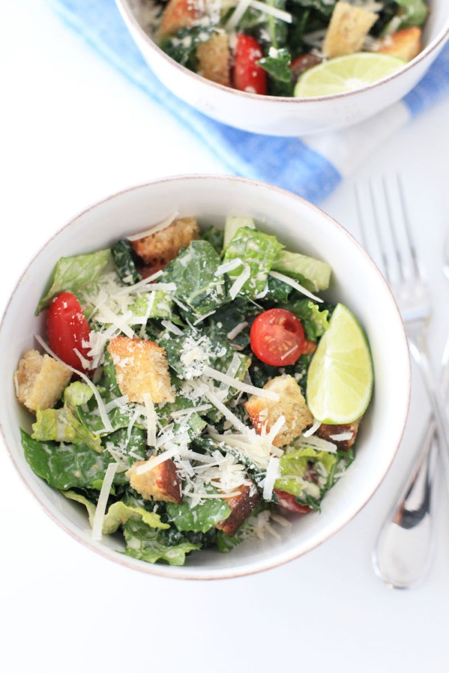 The Best Kale Caesar Salad