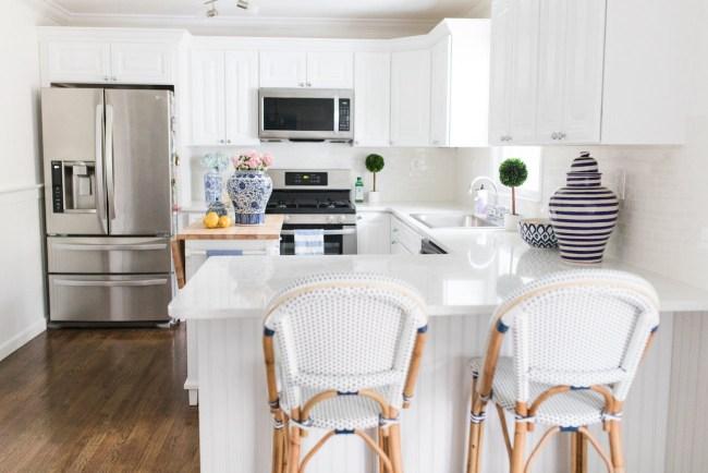 Lemon Stripes Kitchen renovation reveal
