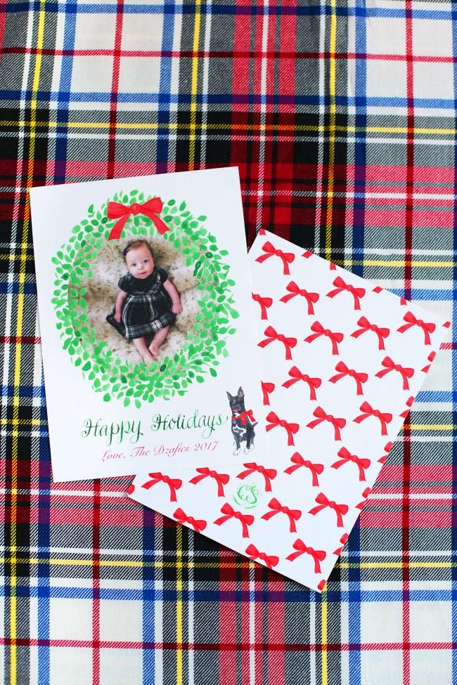 Lemon Stripes Holiday Card