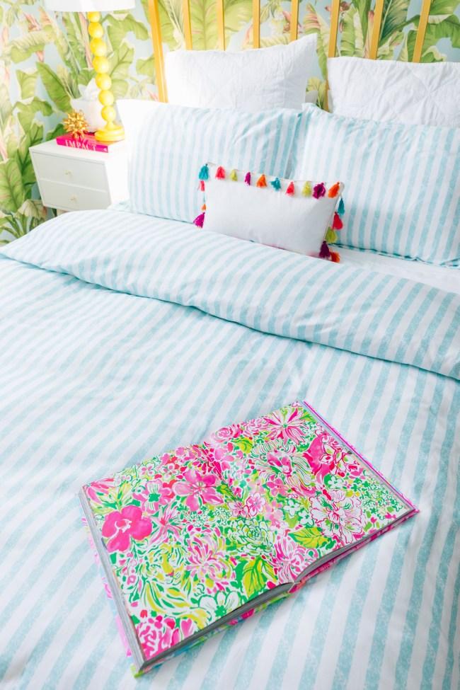 Rainbow Pom Pom Pillow