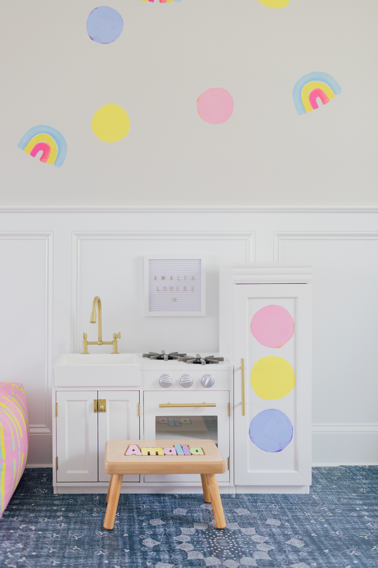 Adding Some Color with Paperless Wallpaper - Lemon Stripes