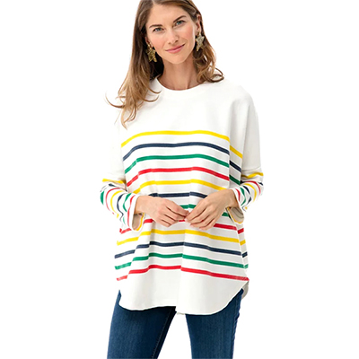 Rainbow Striped Sweatshirt