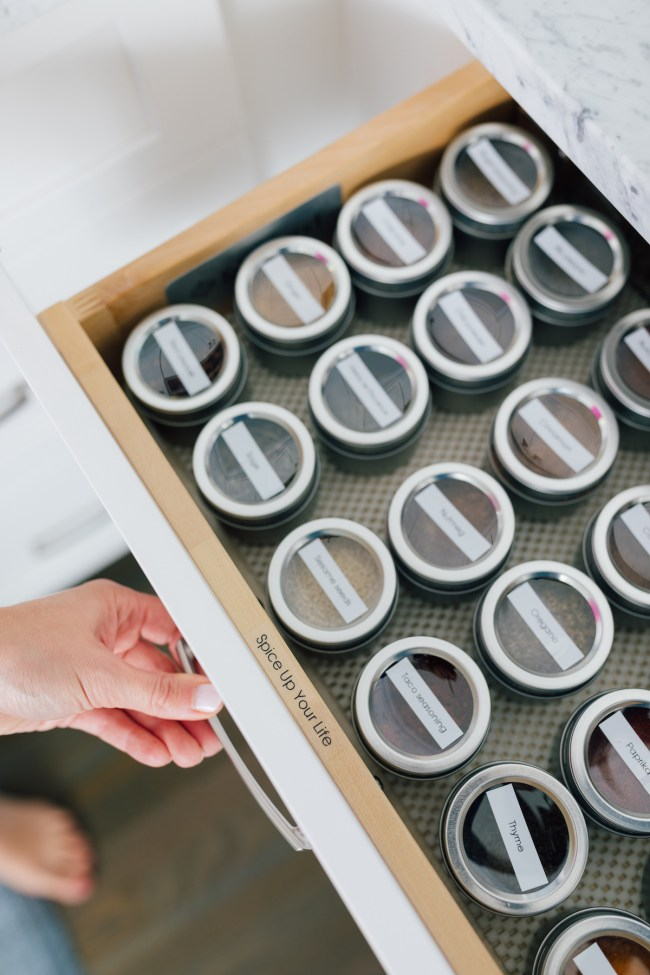How to Organize a Spice Drawer