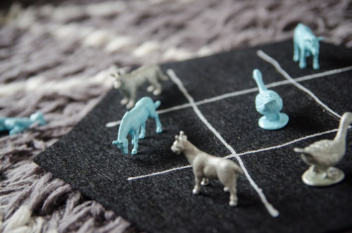 How fun! I'd give it as a gift to my neices for Christmas... DIY Farm Animal Tic Tac Toe