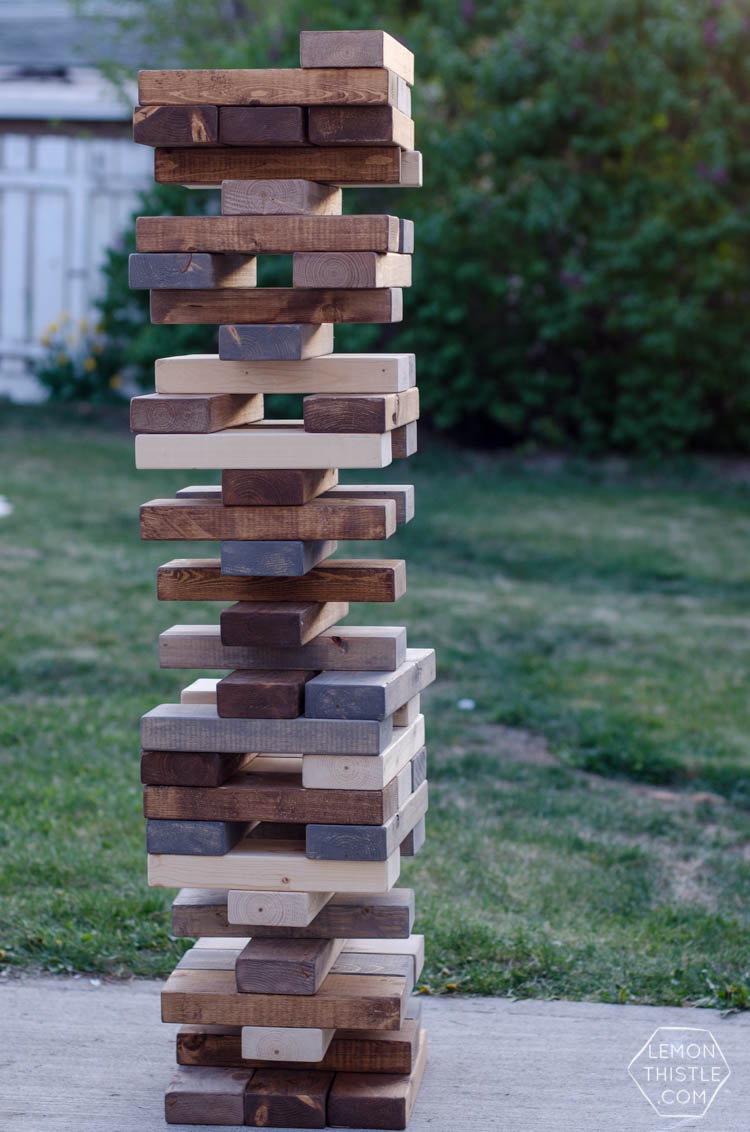 How To Make Giant Jenga Blocks Slide