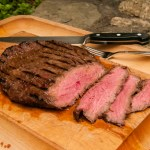 Flank steak marinated in a sherry and soy marinade is delicious and great way to add flavor to pork and beef. Marinate the flank steak for a couple of hours or over night and you will not be disappointed. A quick and easy dinner for any night of the week.