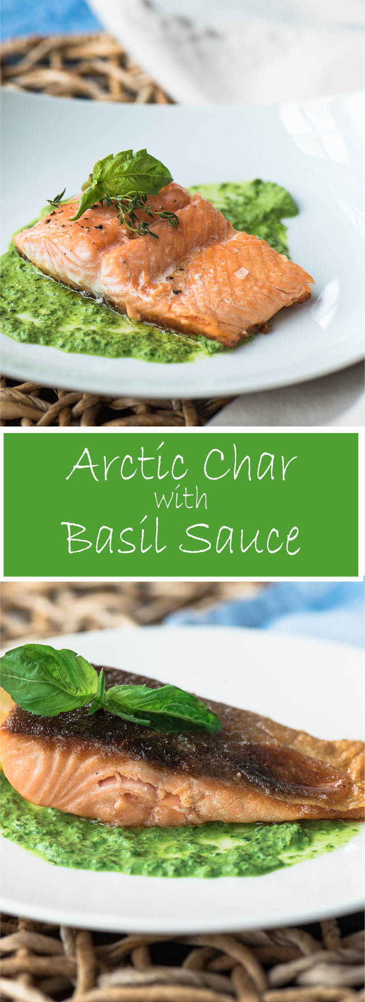 Arctic Char with Basil Sauce
