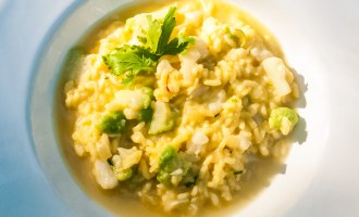 Safron Cauliflower Risotto Recipe