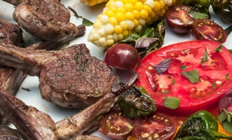 Lamb Chops Early Fall Harvest Dinner for Two recipe