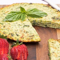 Zucchini and Basil Frittata recipe