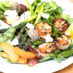 Dinner Salad with Seared Sea Scallops and Greens recipe