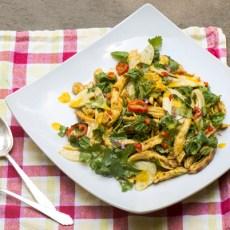 Grilled Chicken Salad with Orange Saffron Dressing recipe