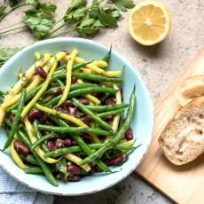 Green Bean Salad with Lemon ginger Vinaigrette reicpe