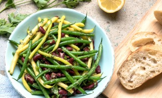 Green Bean Salad with Lemon ginger Vinaigrette reicpe