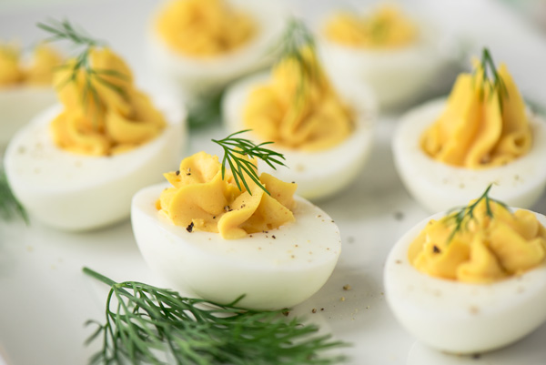 Deviled Eggs 4 Ways, a recipe.
