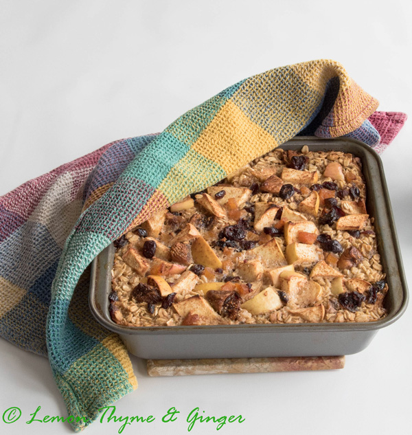 Earth Day Friendly Recipes, Baked Oatmeal with Apples