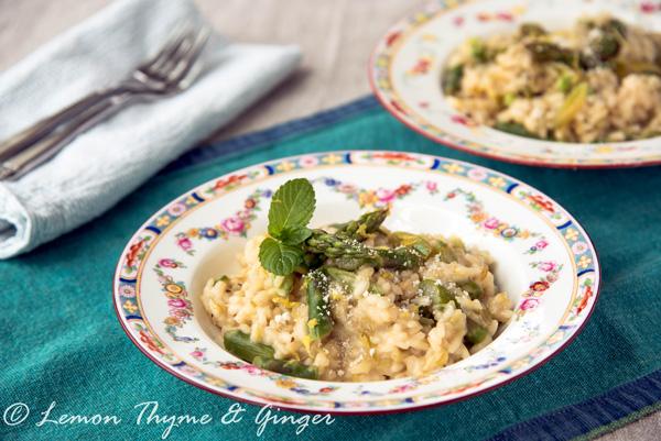 Leek Asparagus Risotto, a recipe.