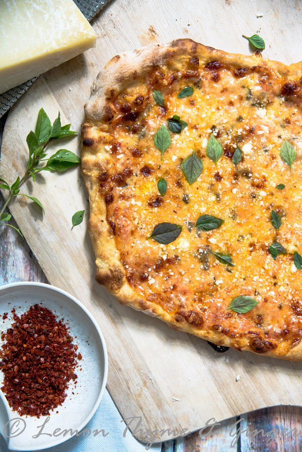 Four Cheese Pizza recipe.