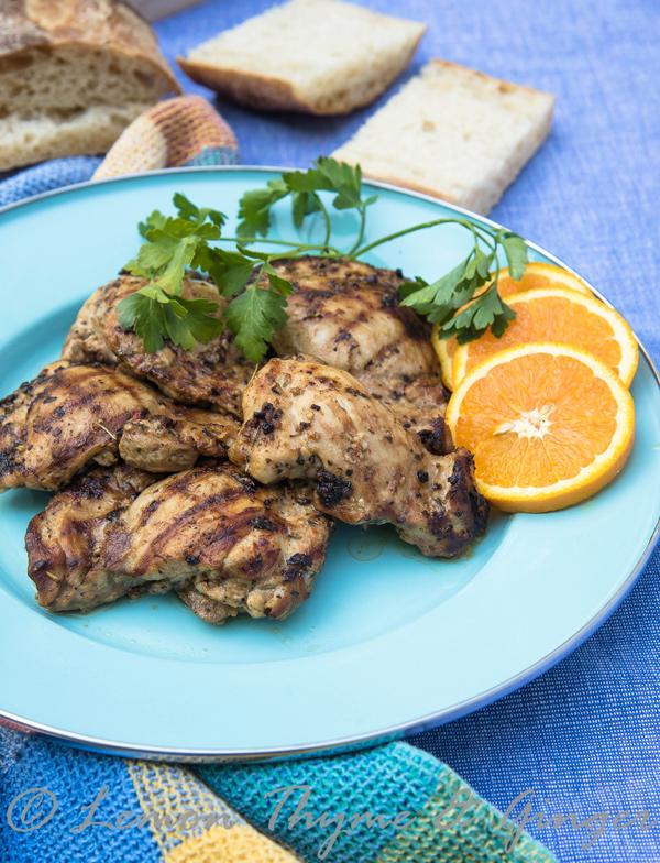 Grilled Chicken with Garlic Herb Marinade recipe.