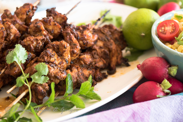 Grilled Adobo Chicken Kebabs recipe.