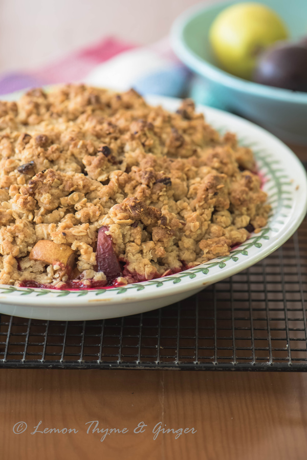 Ginger Plum and Pear Crisp recipe.