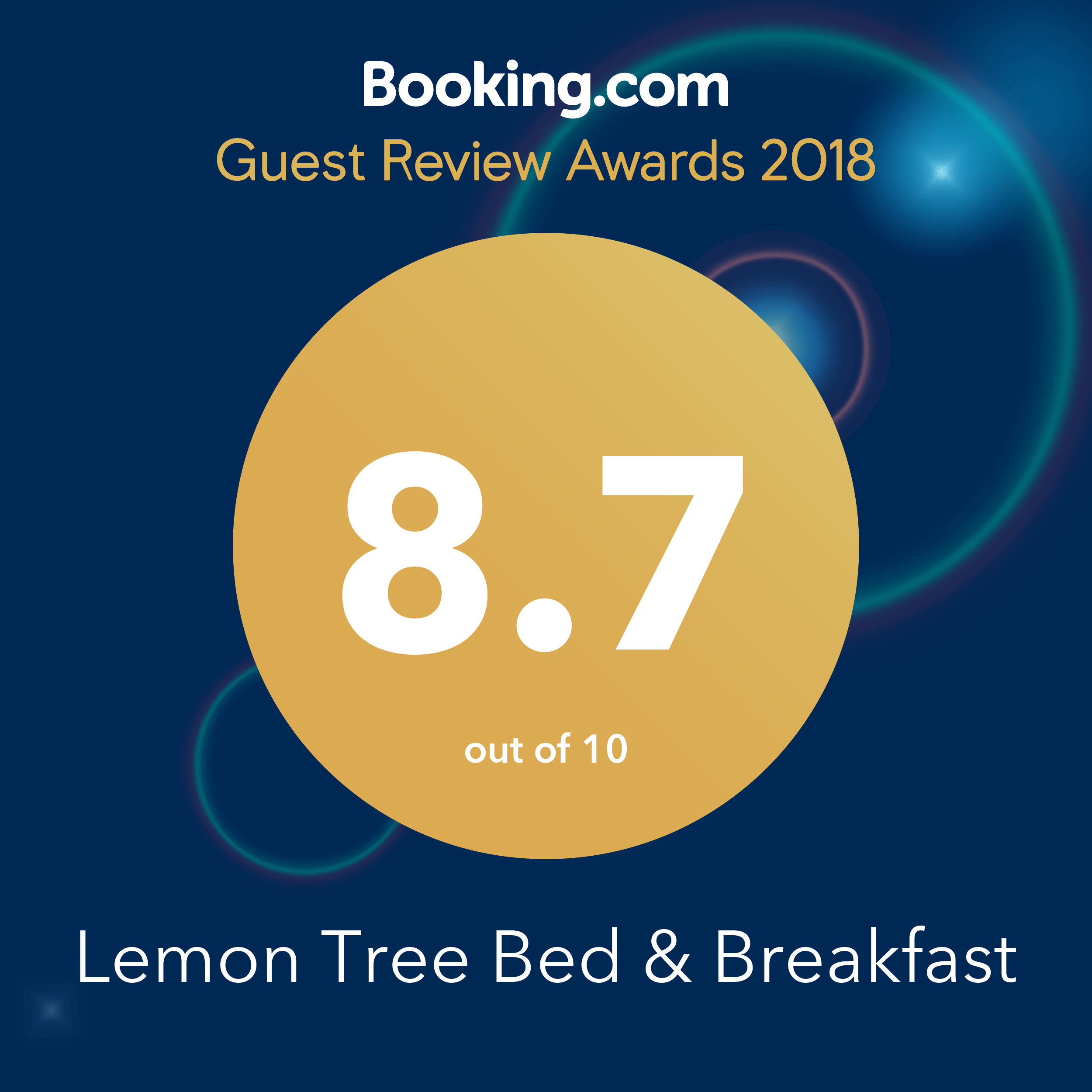 Booking.com Award for 2018