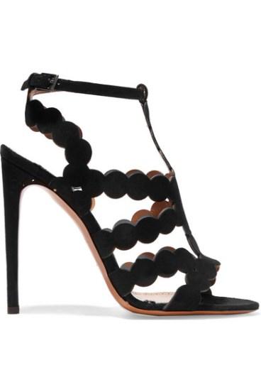 Alaïa laser-cut suede sandals 770€