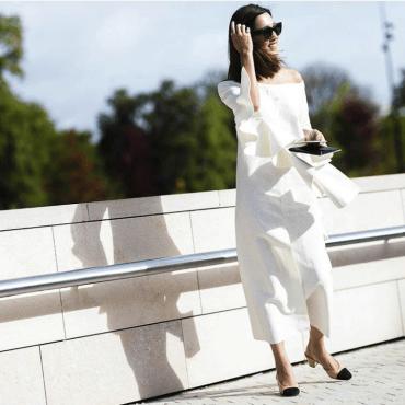 Nicole Warn wearing Chanel shoe