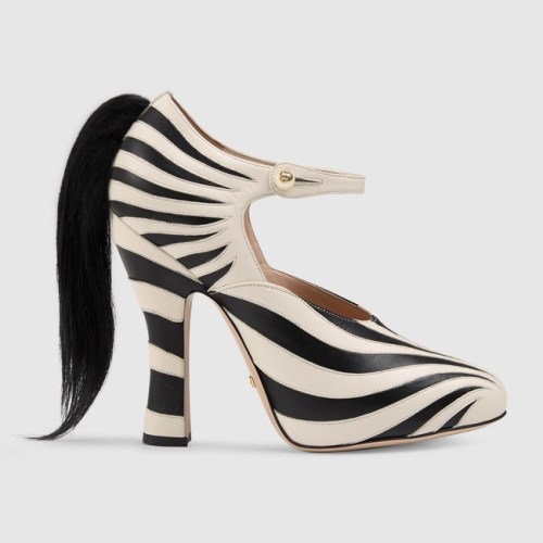 Gucci zebra pump 980