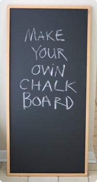 Make Your Own Chalkboard | Lemonwood Clock