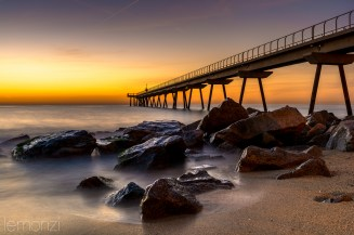 Sunrise in Pont del Petroli, Badalona