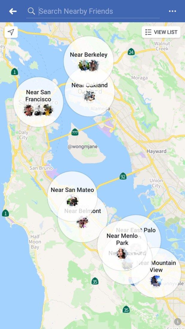 Facebook Uji Tampilan Peta Utuk Fitur Teman Jarak Terdekat