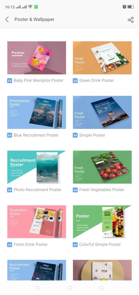 template poster WPS Office