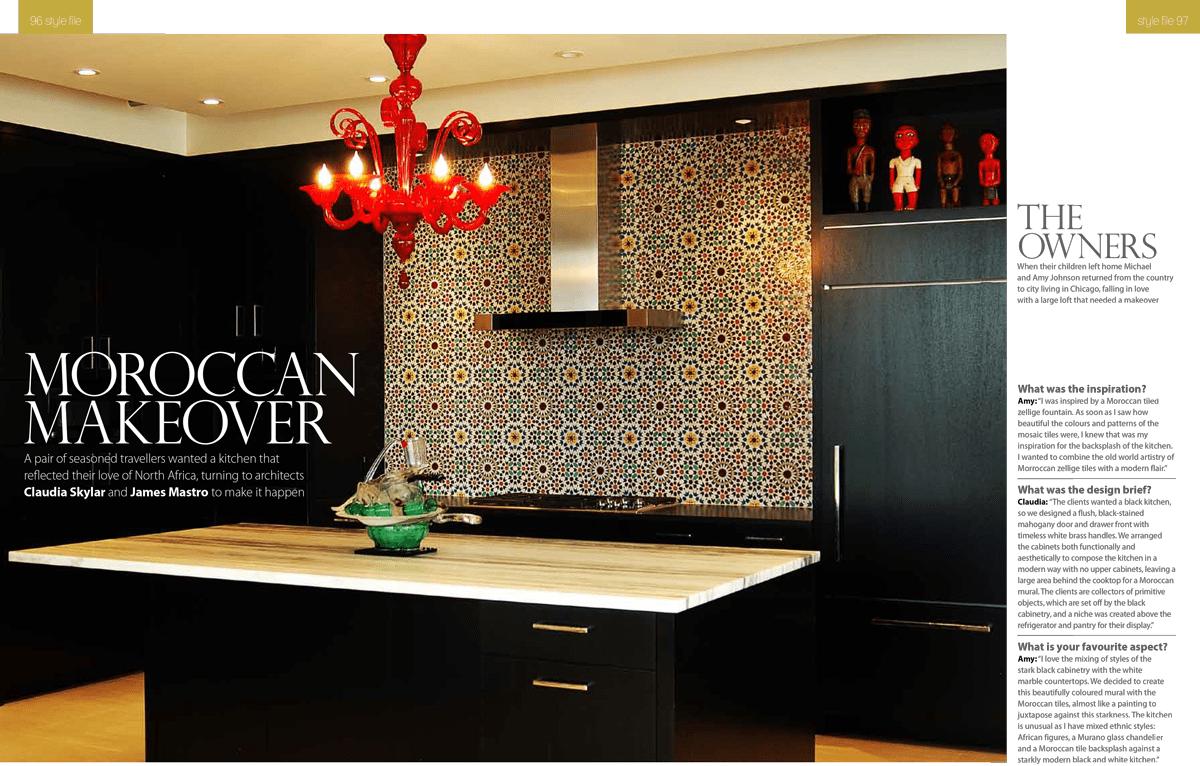 UK Magazine Features Fassi Moroccan Tile Backsplash  The