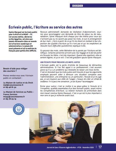 Écrivain public Coeur Essonne