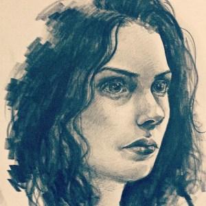 Déborah Galopin portrait dessiné par Cammiyu