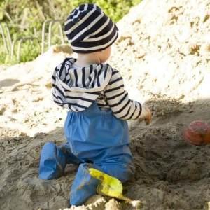 BMS salopette spéciale bebe ciré impermeable avec pieds