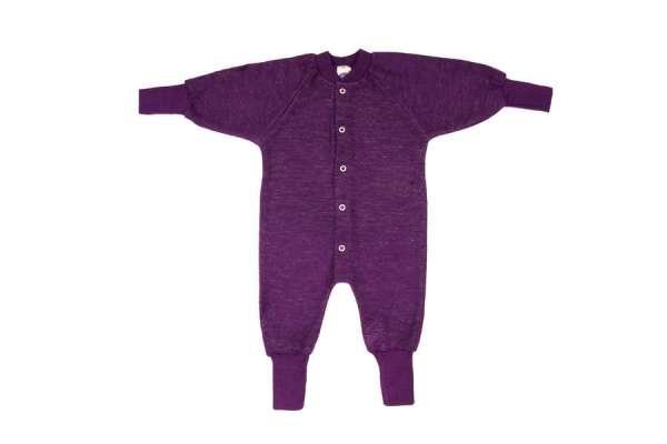 Pyjama laine violet sans pieds