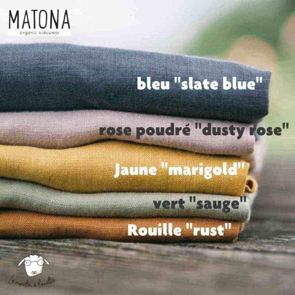 Coloris lin Matona vêtements bébé enfant en lin