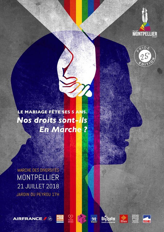 affiche gaypride montpellier 2018