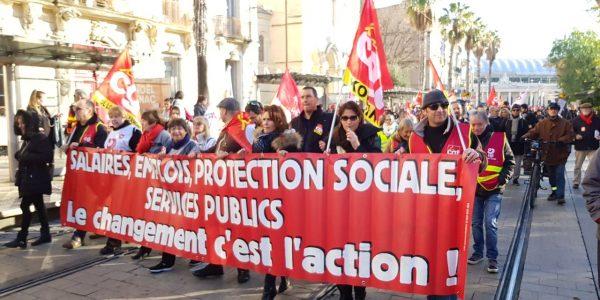 Rassemblement en cours à #Montpellier #CGT #Manifestation
