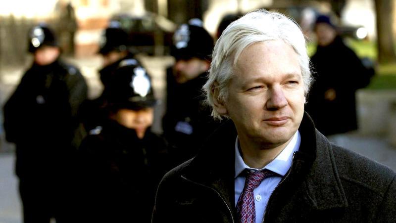 Julian Assange, le fondateur de WikiLeaks, le 2 février 2012 à Londres ©franceinfo