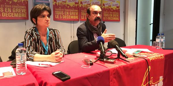 Philippe Martinez, secrétaire général de la CGT & Natacha Pommet, secrétaire de la Fédération CGT des Services publics