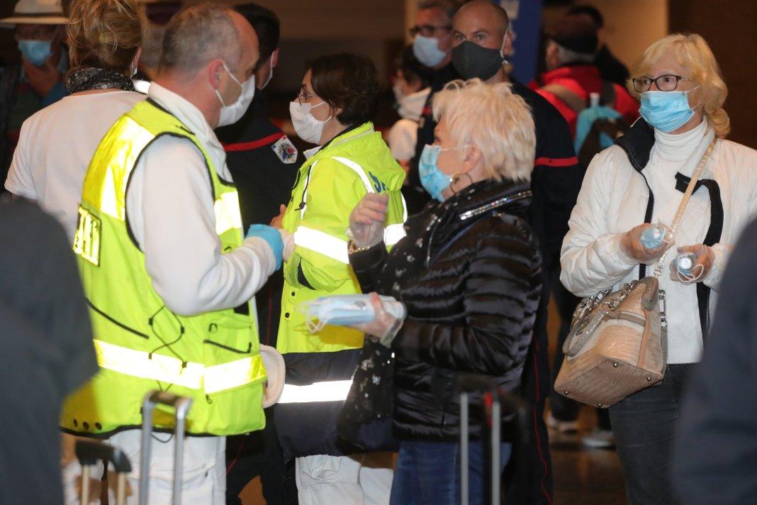 Montpellier accueille les passager français du Costa Deliziosa
