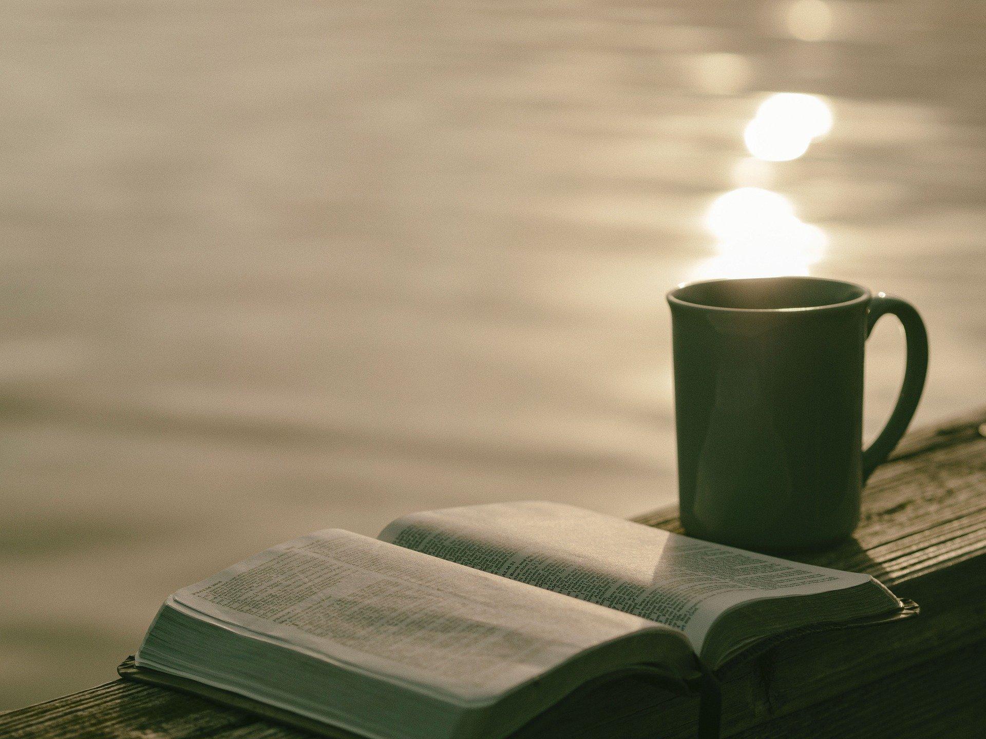 Livre et pose café