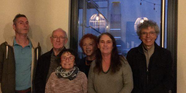 De gauche à droite Serge Albanese (libraire), Jean-Pierre Nègre (ingénieur), Ghyslaine Gelys (auxiliaire de vie), Madeleine Estryn (médecin du travail et de santé publique), Anne Souberbielle (éducatrice), Etienne Plagiau (directeur d'école)